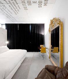 Minimalistic hotel rooms