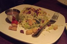 Houlihan's Chop Salad with chedder cheese and Balsamic vinaigrette. One of my…