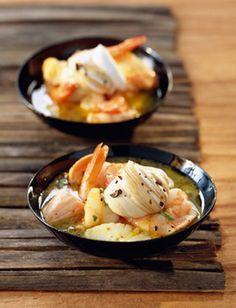 Nage de lotte, coquillages et crustacés : la recette facile