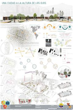 Galería de XXXI ELEA Norte presenta sus proyectos ganadores – 7 XXXI ELEA North presents its winning projects, Honorable Mention / A city at the height of the eyes. Image Courtesy of XXXI ELEA Blog Architecture, Site Analysis Architecture, Architecture Panel, Urban Design Diagram, Urban Design Plan, Architecture Presentation Board, Presentation Layout, Presentation Boards, Architectural Presentation