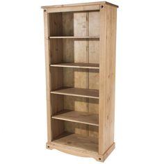 Classic Corona Tall Wide 177.6cm Standard Bookcase Slim Bookcase, Pine Bookcase, Bookcases For Sale, Wooden Bookcase, Black Bookcase, Large Bookcase, Wall Display Cabinet, Book Cabinet, Corona