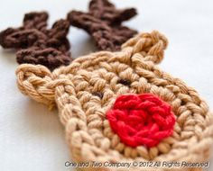 Rudolph Crochet Applique Pattern