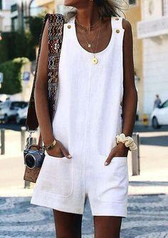 Women's Dresses – Print/Floral Sleeveless Shift Above Knee Casual Dresses - 2019 Mode Robes Midi, Mini Vestidos, Casual Look, White Casual, Women's Casual, Casual Summer, Black White, Casual Styles, Casual Party