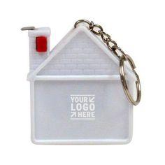 House shape tape measure and key chain