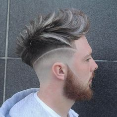 High mohawk with shaved line Best Fade Haircuts