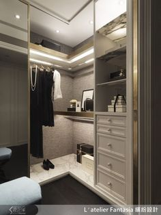 Super Ideas For Bedroom Wardrobe Corner Custom Closets Dressing Room Decor, Dressing Room Closet, Wardrobe Closet, Closet Bedroom, Dressing Table, Man Closet, Dressing Rooms, Walking Closet, Master Bedroom Wardrobe Designs