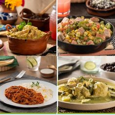 Si tienes antojo de comida mexicana, tienes que preparar estos 4 guisados mexicanos súper fáciles de hacer. Comienza con un rico chicharrón en salsa verde casero o unas calabcitas con puerco; sino, puedes optar por la tradicional tinga de res con guajillo o un delicioso pollo con verdolagas. ¡Están deliciosos! Mexican Dishes, Mexican Food Recipes, Ethnic Recipes, Salsa Verde, Traditional Mexican Food, Chicharrones, Tamales, Tacos, Easy Recipes