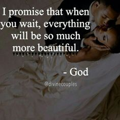 I promise that when you wait everything will be so much more beautiful. Christian Life, I Promise, Gods Love, Everything, Waiting, Let It Be, Quotes, Beautiful, Goals