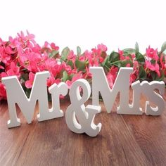 3 pcs/set Mr & Mrs Wedding Decor wooden Letters