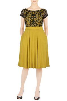 T shirt avec tulle jersey pinterest for Jersey knit wedding dress