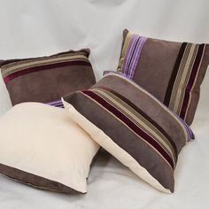 Purple Striped Velvet & Reclaimed Suede Luxury by RECOVERTEAM