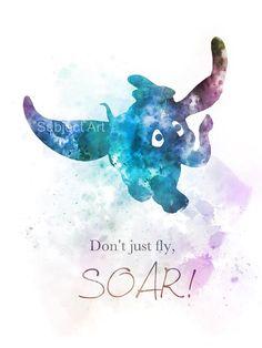 Dumbo inspired Quote ART PRINT illustration Disney by SubjectArt