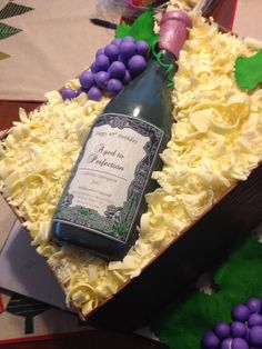 Photo 4 of 5 Birthday Cake Wine, Birthday Cakes For Men, 50 Birthday, Wine Theme Cakes, Themed Cakes, Wine Cakes, Wine Bottle Cake, Wine Bottles, Prosecco Cake