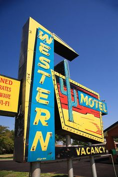 """Route 66 - Wonderful cactus and desert welcome sign of the Western Motel on old Rt. 66 in Sayre, Oklahoma. """"The Fine Art Photography of Frank Romeo."""""""