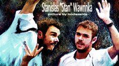 全米テニスで優勝したワウリンカ選手をお絵描き [1]
