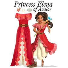 Princess Elena of Avalor by supercalifragilistica on Polyvore featuring polyvore, fashion, style, Biba, Jolie Moi, Valentino, Club L, Isabel Marant, Finesse and Lauren Ralph Lauren