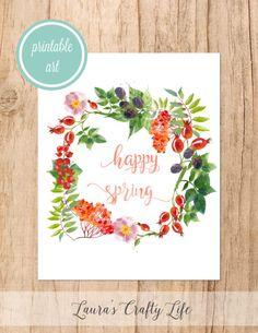 Happy Spring free printable art