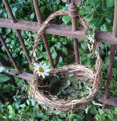 Rustic Primitive Flower Girl Basket for Your Shabby by bazketmakr, $20.00