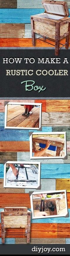 DIY Porch and Patio Ideas - Patio Rustic Cooler Box - Decor Projects and Furniture Tutorials You Can Build for the Outdoors -Swings, Bench, Cushions, Chairs, Daybeds and Pallet Signs  diyjoy.com/...