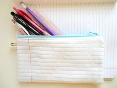 Notebook Page Pencil Case $8