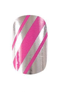 #HND #Nail #Wraps - #Stripes #Pink and Silver | Hollywood Nail Design £5.50 for a pack of 15.