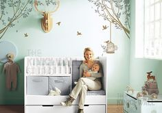 Tree Wall Decals Wall Sticker Nursery Decal - Branches decal with Bird Cage decal -kk107 on Etsy, $62.00