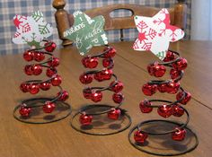 Snowflakes and Dragonflies: Jingle Bell Trees