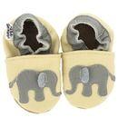 Leder-Lauflernschuh mit Elefanten  #babyshoe #babyschuhe #babyone #elefanten #elephants