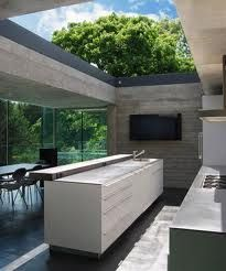 Open-air The House in Highgate Cemetery is designed by Eldridge Smerin and is located in // Photo by Lyndon Douglas - Architecture and Home Decor - Bedroom - Bathroom - Kitchen And Living Room Interior Design Decorating Ideas - Modern Kitchen Design, Interior Design Kitchen, Home Design, Design Ideas, Kitchen Designs, Modern Outdoor Kitchen, Design Layouts, Design Room, Outdoor Kitchens