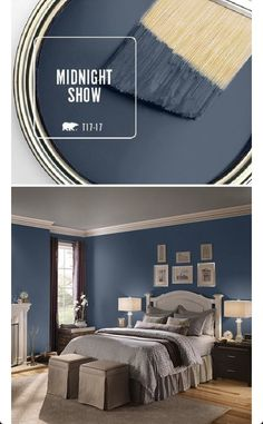 New painting ideas for home colour schemes bathroom ideas – Schlafzimmer Exterior Paint Colors For House, Bedroom Paint Colors, Paint Colors For Home, Paint Colours, Wall Exterior, Blue Room Paint, Blue Gray Paint Colors, Gray Exterior, Navy Paint