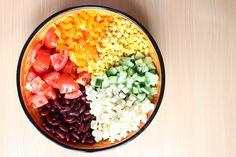 Regenbogensalat | eine tolle Idee für den Tisch #recipe