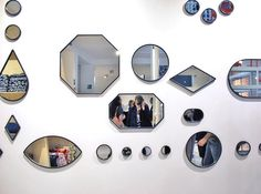 geometric mirrors designed by Doshi Levien for Hay.