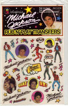 Michael Jackson Rub N' Play Transfers by Colorforms