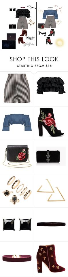 """NIGHT AND DAY"" by styledbyross on Polyvore featuring La Perla, Boohoo, WearAll, Charlotte Russe, Dsquared2, Witchery, Steve Madden, Vanessa Mooney and Aquazzura"
