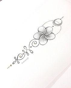 Wrist Tattoos, Finger Tattoos, Cute Tattoos, Beautiful Tattoos, Body Art Tattoos, Small Tattoos, Plumeria Tattoo, Tatouage Plumeria, Tatoo 3d