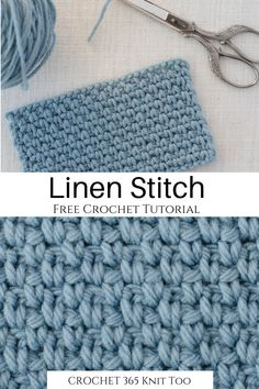 How to Crochet the Linen Stitch - Crochet 365 Knit Too - - Learnhow to crochet the linen stitch! This stitch is also called the Seed stitch, the Moss stitch, the Woven stitch and the Granite stitch. Crochet Stitches For Blankets, Different Crochet Stitches, Crochet Stitches Free, Crochet Basics, Knitting Stitches, Knitting Abbreviations, Crochet Stitches For Beginners, Fall Knitting, Free Crochet