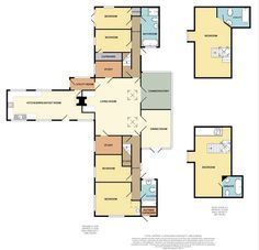 2 story Floor Plans of a beautiful bungalow. Bungalow, Floor Plans, Flooring, How To Plan, Beautiful, Hardwood Floor, House Floor Plans, Floor, Bungalows