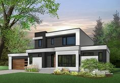 Inventive contemporary house plans and modern house plans that combine clean simple lines and abundant natural light. Pole Barn House Plans, Family House Plans, Bedroom House Plans, Contemporary House Plans, Modern House Plans, Modern Contemporary, Minimalist House Design, Modern House Design, Drummond House Plans