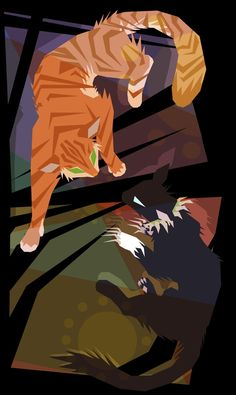 yE For my design class, where we had to make a fake movie poster, and my teacher let me draw it so that's what i did. I was too lazy to think of actor names and stuff and it wasn't mandatory so I d. Warrior Cats Scourge, Warrior Cats Comics, Warrior Cat Oc, Warrior Cats Fan Art, Warrior Cats Series, Warrior Cats Books, Warrior Cat Drawings, Cat Comics, Animal Drawings