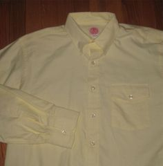 J. Press - Yellow Oxford Cloth Button Down with Pocket Flap