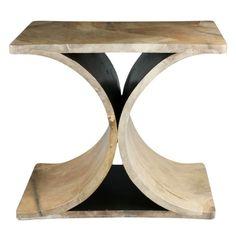 Sculptural Parchment Covered Karl Springer Table