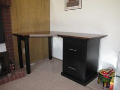 Customized Corner Desk | Do It Yourself Home Projects from Ana White