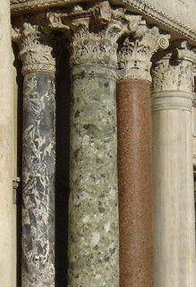 Marbles, St Mark's Basilica, Venice Venezia Veneto Italy