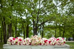 Feminine Chic Bridesmaid Bouquets with Bright and Soft Pink Roses