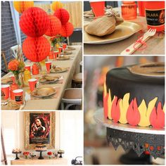 Hunger Games Party with Such Awesome Ideas via Kara's Party Ideas Kara Allen KarasPartyIdeas.com #HungerGamesCatchingFire #TweenParty #Party...