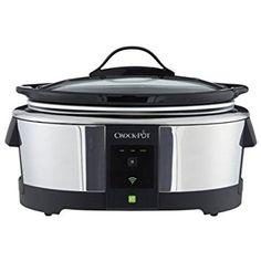 Crock-Pot SCCPWM600-V2 Wemo Smart Wifi-Enabled Slow Cooker, 6-Quart, Stainless Steel