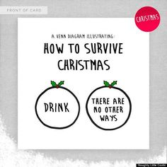 THERE ARE NO OTHER WAYS. Christmas card hilarity