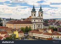 Church of Sts. Anthony of Padua, also known as the Church of the Minorites. Located in the central square of Eger - Istvan Dobo Square. Central Square, Slovenia, Budapest, Croatia, Photo Editing, Royalty Free Stock Photos, Explore, Group, Mansions