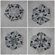 Week 45 Black and White Kaleidoscope canes