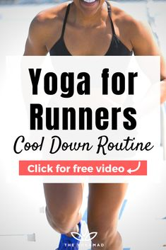 This is a quick cool down yoga routine for runners, focusing on stretching key running muscles in the hips, legs, and back. Incorporate this stretching routine into your running calendar to prevent injuries and improve performance! #yogaathome #yogaforrunners #homeyoga